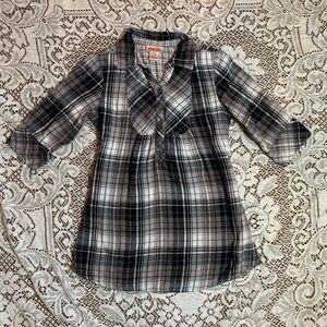 Girls Long Flannel Shirt/Dress
